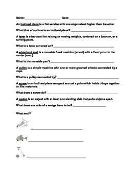 Simple Machine Worksheet Set
