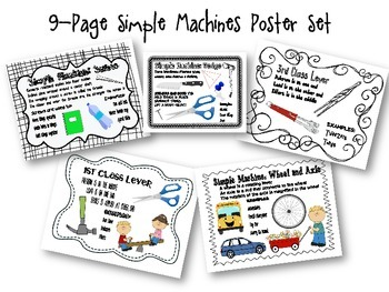 Simple Machines 9 Page Poster Set