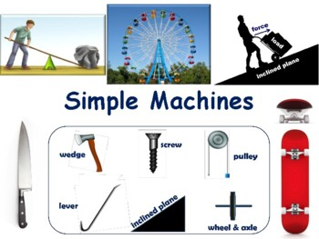 Simple Machines Flashcards - task cards, study guide, stat