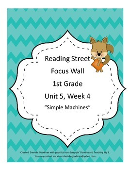 Simple Machines Focus Wall Posters 1st Grade Reading Stree
