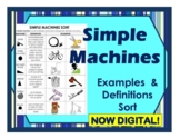 Simple Machines Sort Cut and Paste Examples, Definitions &