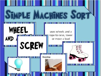 Simple Machines Task Card Sort with Real World Connections