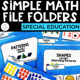 Simple Math File Folders for Special Education