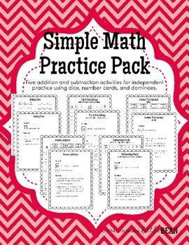 Simple Math Practice Pack K-2 (Math Fact Fluency)