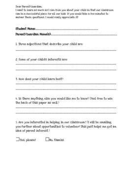 Simple Parent Survey