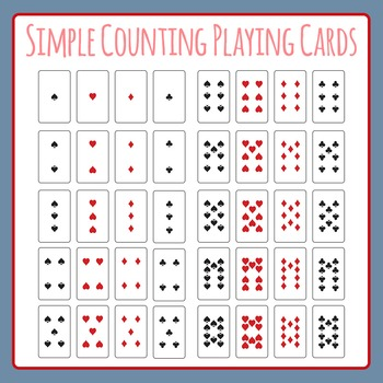 Simple Playing Cards for Counting, Addition and Subtractio