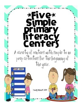 Simple Primary Literacy Centers & Activities *Little to no