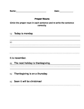 Simple Proper Noun Test