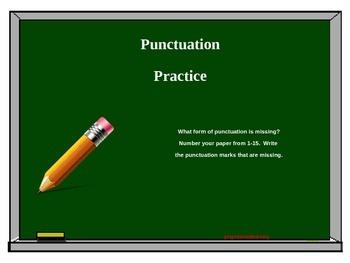 Simple Punctuation Practice