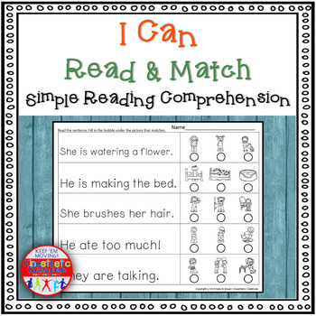 Reading Comprehension (Simple): I Can Read & Match