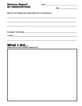Simple Science Report
