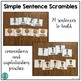 """Simple Sentence Scrambles """"I have..."""" (with sight words)"""