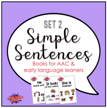 Simple Sentences Books #2 for Early Language Learners