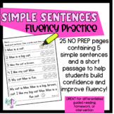 Simple Sentences fluency practice