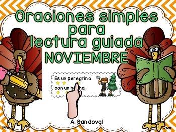 Simple Sentences for Guided Reading in Spanish-November