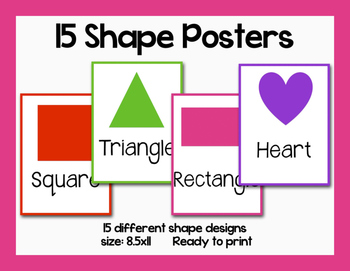Simple Shape Printable Posters-8.5x11