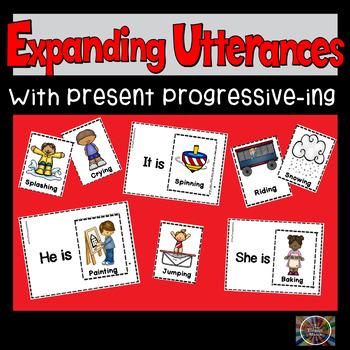 Simple Speech & Language Huge Ing Verb Cards Set