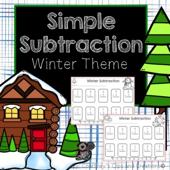 Simple Subtraction {Winter Theme} Freebie