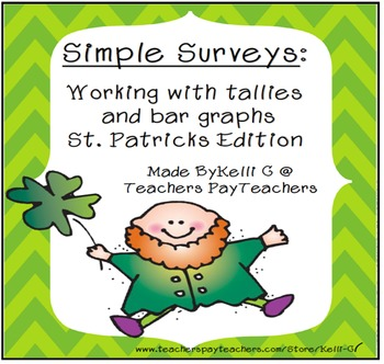 Simple Surveys: Tallies and Bar Graphs for March (St. Patr