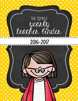 Simple Teacher Binder & Binder Covers