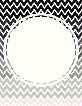 Simple Umbre Chevron Blank Poster Set