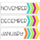 Simple and Clean Calendar Set: Blue-Greens and Tropical Brights