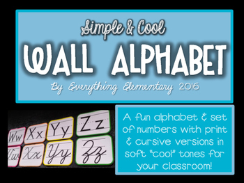 Simple & Cool Wall Alphabet and Numbers 0-9 Set