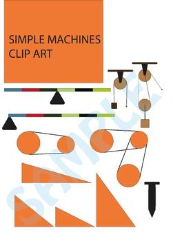 Simple machines cliparts