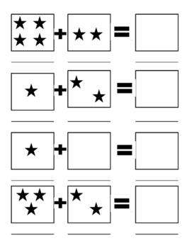 Simple visual addition worksheet