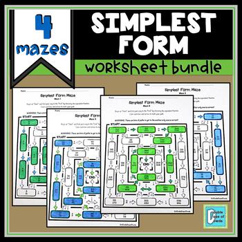 Simplest Form Maze Bundle
