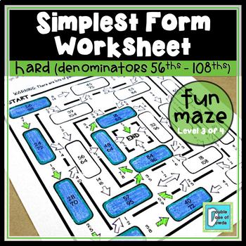 Simplest Form Maze - Hard