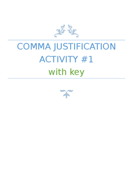 Simplified Comma Rules Activity Assessment Quiz MiniLesson