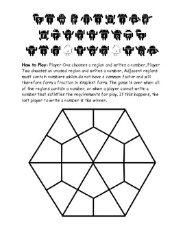 Grade 3 Math Activity - Simplified Fractions Tic Tac Toe