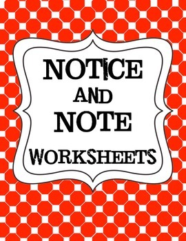 Simplified Worksheets for Notice and Note for Use with Low
