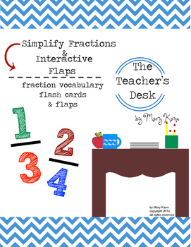 Simplify Fractions and Interactive Flaps