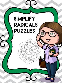 Simplify Radicals Cut apart Puzzles