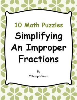 Simplifying An Improper Fractions Puzzles