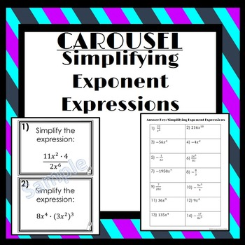 Simplifying Exponent Expressions: Carousel Activity
