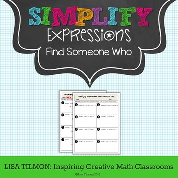 Simplifying Expressions Find Someone Who Activity