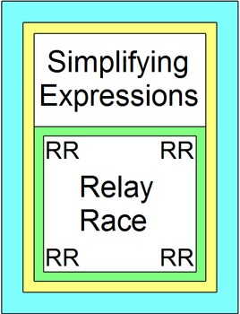 Simplifying Expressions - RELAY RACE (8 rounds of 4 problems)