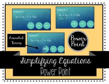 Simplifying Expressions Think Pair Share
