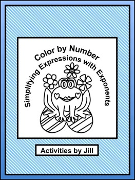 Simplifying Expressions with Exponents (Color by Number)