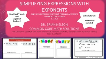 Simplifying Expressions with Exponents - PowerPoint Lesson