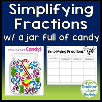 Simplifying Fractions Activity - Use Real Candy or include