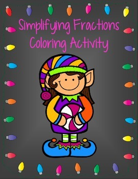 Simplifying Fractions {Christmas Coloring Freebie}