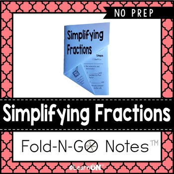 Simplifying Fractions Fold-N-Go Notes™