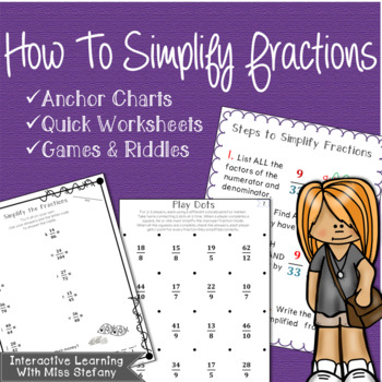Simplifying Fractions & Improper Fractions {Anchor Charts
