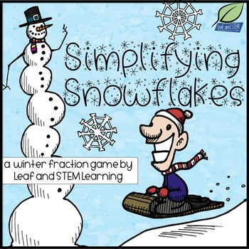 Simplifying Fractions Snowflake Matching Game {Winter FREEBIE}