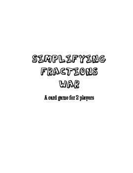 Simplifying Fractions War