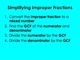 Simplifying Improper Fractions PowerPoint by Kelly Katz